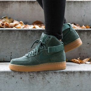 Nike Green Suede Air Force 1 Hi Sneakers